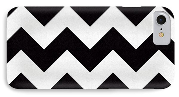 Zig Zag Pattern IPhone Case by Chuck Staley
