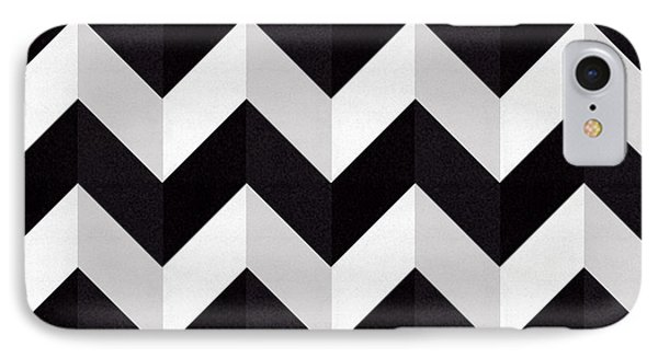 Zig Zag - Shadow IPhone Case by Chuck Staley