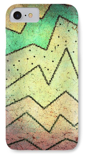 Zig Zag Two Abstract Art IPhone Case by Ann Powell