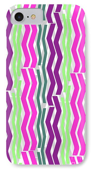 Zig Zig Stripes IPhone 7 Case