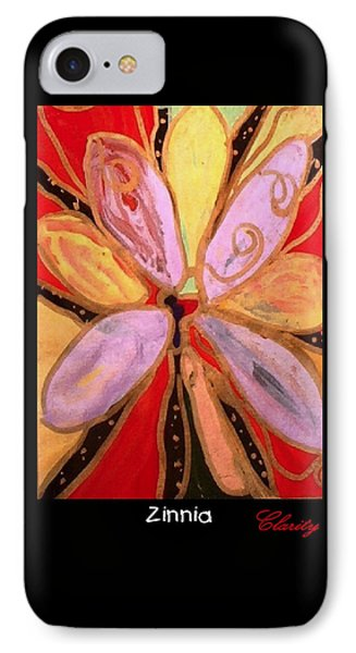 IPhone Case featuring the painting Zinnia by Clarity Artists