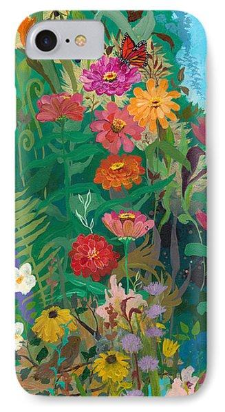 Zinnias Garden IPhone Case by Robin Maria Pedrero