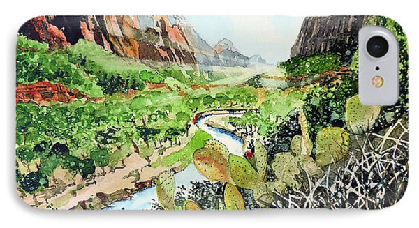 Zion And The Virgin River IPhone Case by Tom Riggs