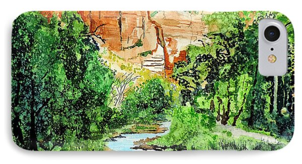 Zion And The Virgin River Two IPhone Case by Tom Riggs