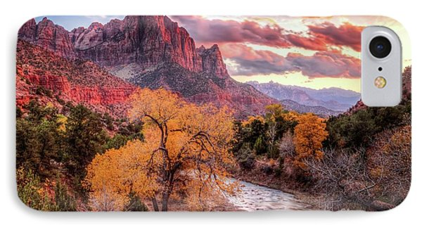 Zion Autumn Sunset IPhone Case