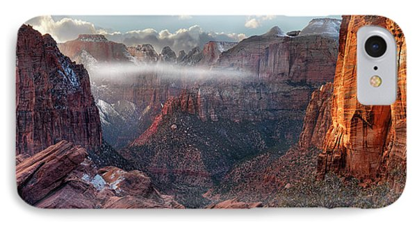 Zion Canyon Grandeur IPhone Case by Leland D Howard