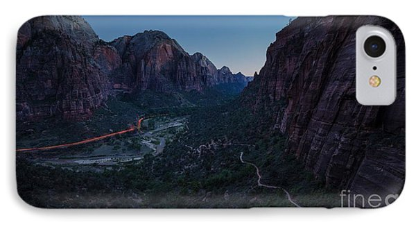 Zion Evening Commute IPhone Case by JR Photography