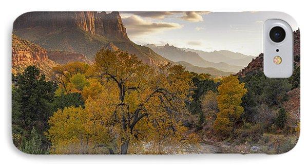 Zion National Park Autumn IPhone Case by Leland D Howard