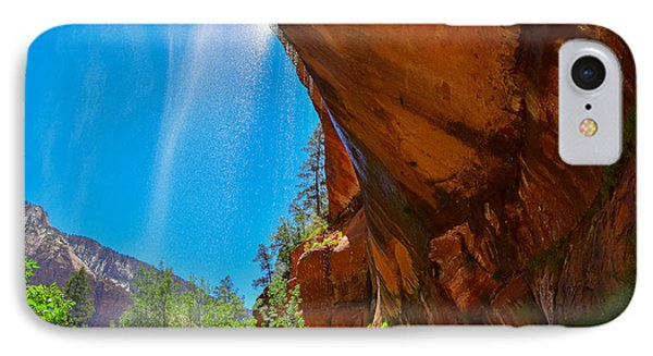 IPhone Case featuring the photograph Zion - Under The Falls by Dany Lison