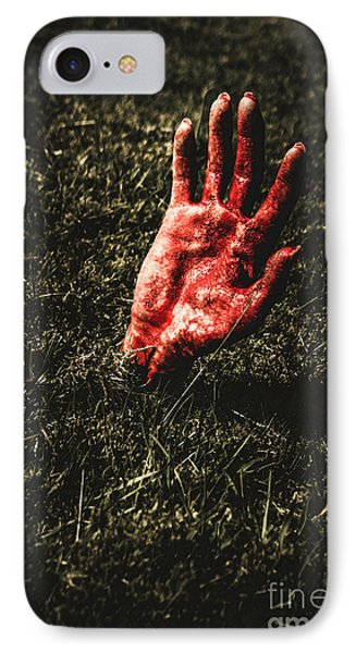 Zombie Rising From A Shallow Grave IPhone Case by Jorgo Photography - Wall Art Gallery