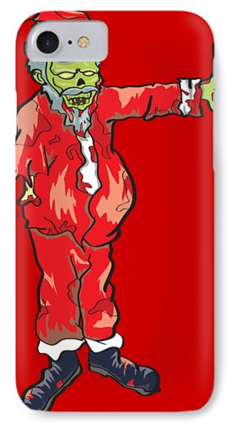Zombie Santa Claus Illustration IPhone Case by Jorgo Photography - Wall Art Gallery
