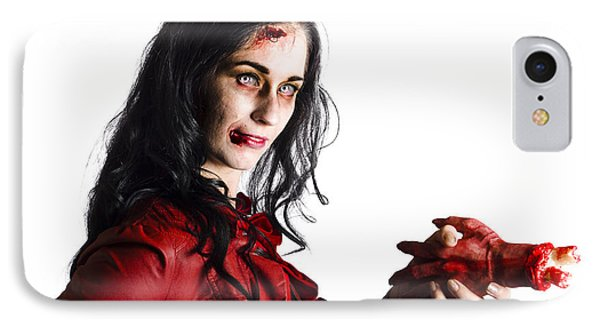 Zombie Shaking Severed Hand IPhone Case by Jorgo Photography - Wall Art Gallery