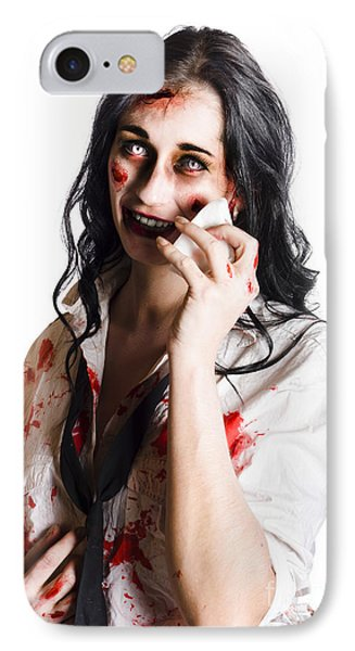 Zombie Woman Distressed IPhone Case