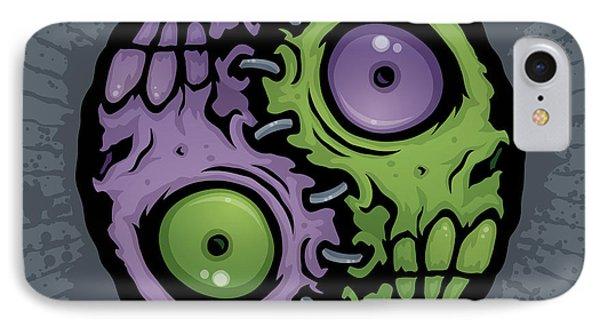 Zombie Yin-yang Phone Case by John Schwegel