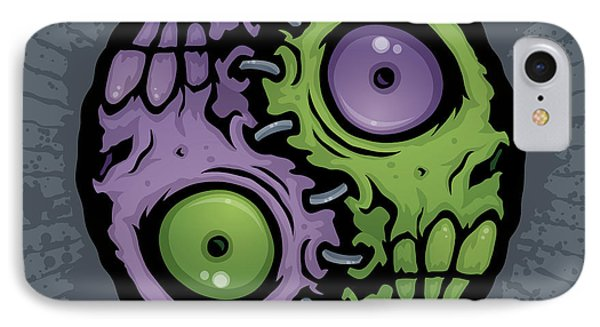 Zombie Yin-yang IPhone Case by John Schwegel
