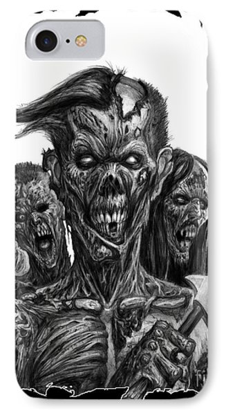 Zombies  IPhone Case by Tony Koehl