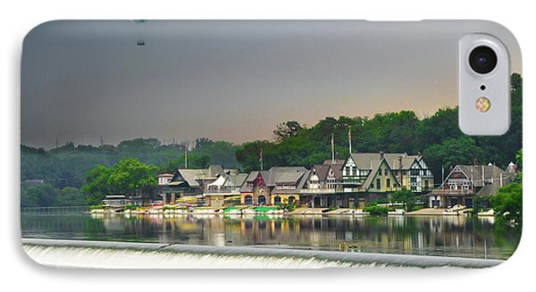 IPhone Case featuring the photograph Zoo Balloon Flying Over Boathouse Row by Bill Cannon