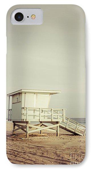 Zuma Beach Lifeguard Tower #3 Malibu California IPhone Case by Paul Velgos