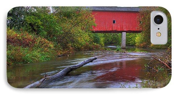 Zumbrota Minnesota Historic Covered Bridge 5 IPhone Case