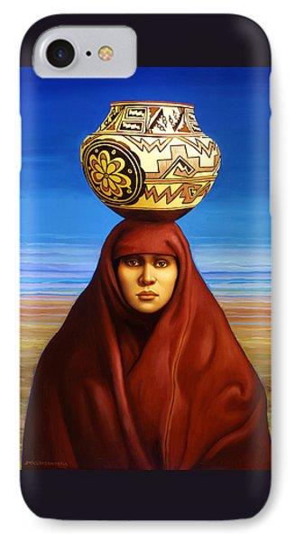Zuni Woman IPhone Case by Jane Whiting Chrzanoska