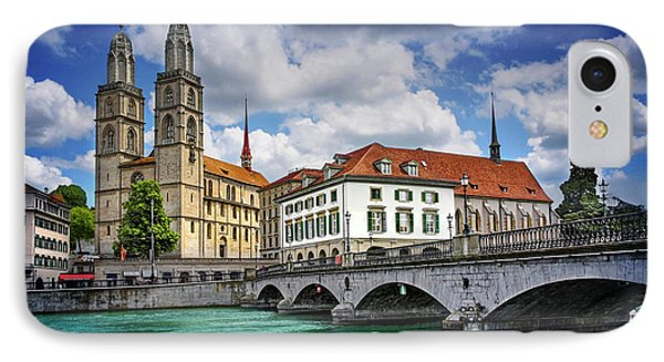 IPhone Case featuring the photograph Zurich Old Town  by Carol Japp