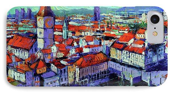 Zurich View IPhone Case by Mona Edulesco