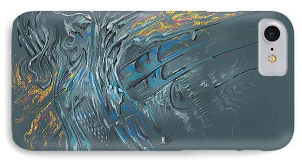 IPhone Case featuring the digital art Zuul Azul by Keith A Link