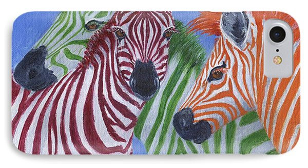 IPhone Case featuring the painting Zzzebras by Jamie Frier