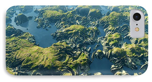 South America iPhone 7 Case - Amazon River Birds Eye View by Dariush M