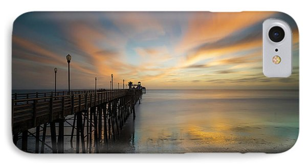 Pacific Ocean iPhone 7 Case - Oceanside Pier Sunset by Larry Marshall