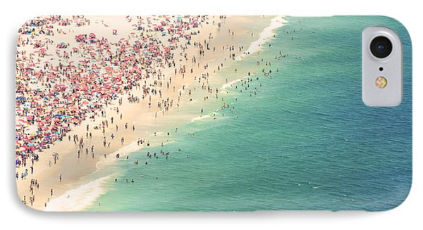 South America iPhone 7 Case - Aerial Summer View Of Crowded Ipanema by Lazyllama