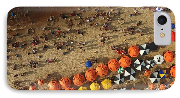 South America iPhone 7 Case - Aerial View Of Beach In Rio De Janeiro by Esb Professional