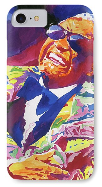 Rhythm And Blues iPhone 7 Case - Brother Ray Charles by David Lloyd Glover
