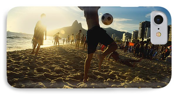 South America iPhone 7 Case - Carioca Brazilians Playing Altinho by Lazyllama