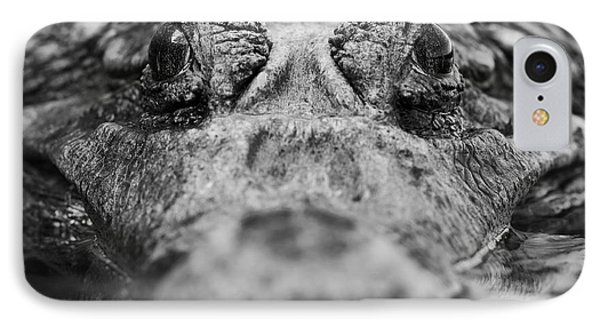 South America iPhone 7 Case - Close Up Of An Adult Male Caiman by Ammit Jack