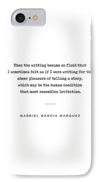 Simple iPhone 7 Case - Gabriel Garcia Marquez Quote 02 - Typewriter - Minimal, Modern, Classy, Sophisticated Art Prints by Studio Grafiikka