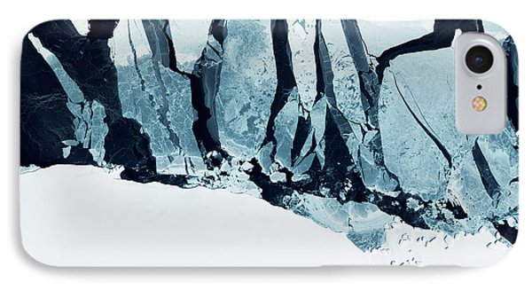 Rocky Mountain iPhone 7 Case - Glaciers Of Greenland. Some Graphics by Strahil Dimitrov