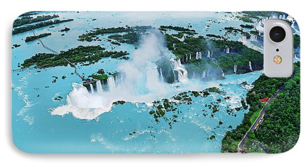 South America iPhone 7 Case - Iguazu Waterfalls From Helicopter by Elena Odareeva
