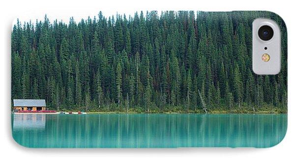 Rocky Mountain iPhone 7 Case - Landscape Of Canadalandscape Of Canada by Lu Wenjuan