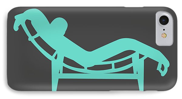 Simple iPhone 7 Case - Le Corbusier Chaise Lounge Chair I by Naxart Studio