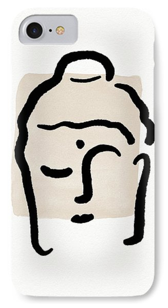 Simple iPhone 7 Case - Minimal Buddha 4- Art By Linda Woods by Linda Woods
