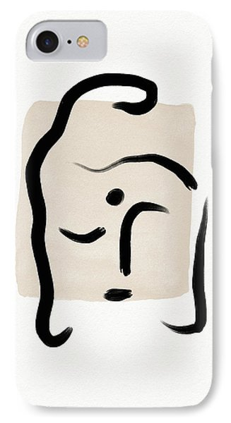 Simple iPhone 7 Case - Minimal Buddha 5- Art By Linda Woods by Linda Woods