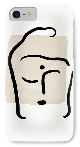Simple iPhone 7 Case - Minimal Buddha 6- Art By Linda Woods by Linda Woods