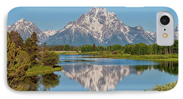 Rocky Mountain iPhone 7 Case - Mount Moran On Snake River Landscape by Brian Harig