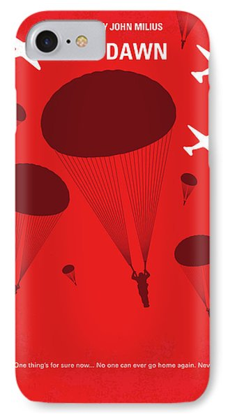 Dawn iPhone 7 Case - No1018 My Red Dawn Minimal Movie Poster by Chungkong Art