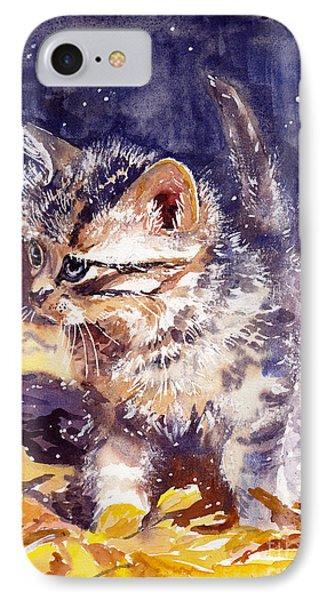Fairy iPhone 7 Case - Pussy On A Yellow Blanket by Suzann's Art