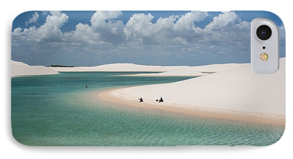 South America iPhone 7 Case - Rainwater Lagoon And Sand Dunes In by Vitormarigo