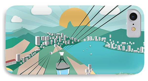 South America iPhone 7 Case - Rio De Janeiro - Vector Illustration by Petrovic Igor
