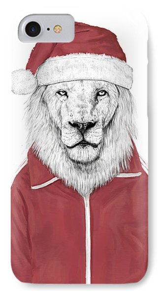 Lion iPhone 7 Case - Santa Lion  by Balazs Solti
