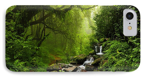 South America iPhone 7 Case - Subtropical Forest In Nepal by Quick Shot